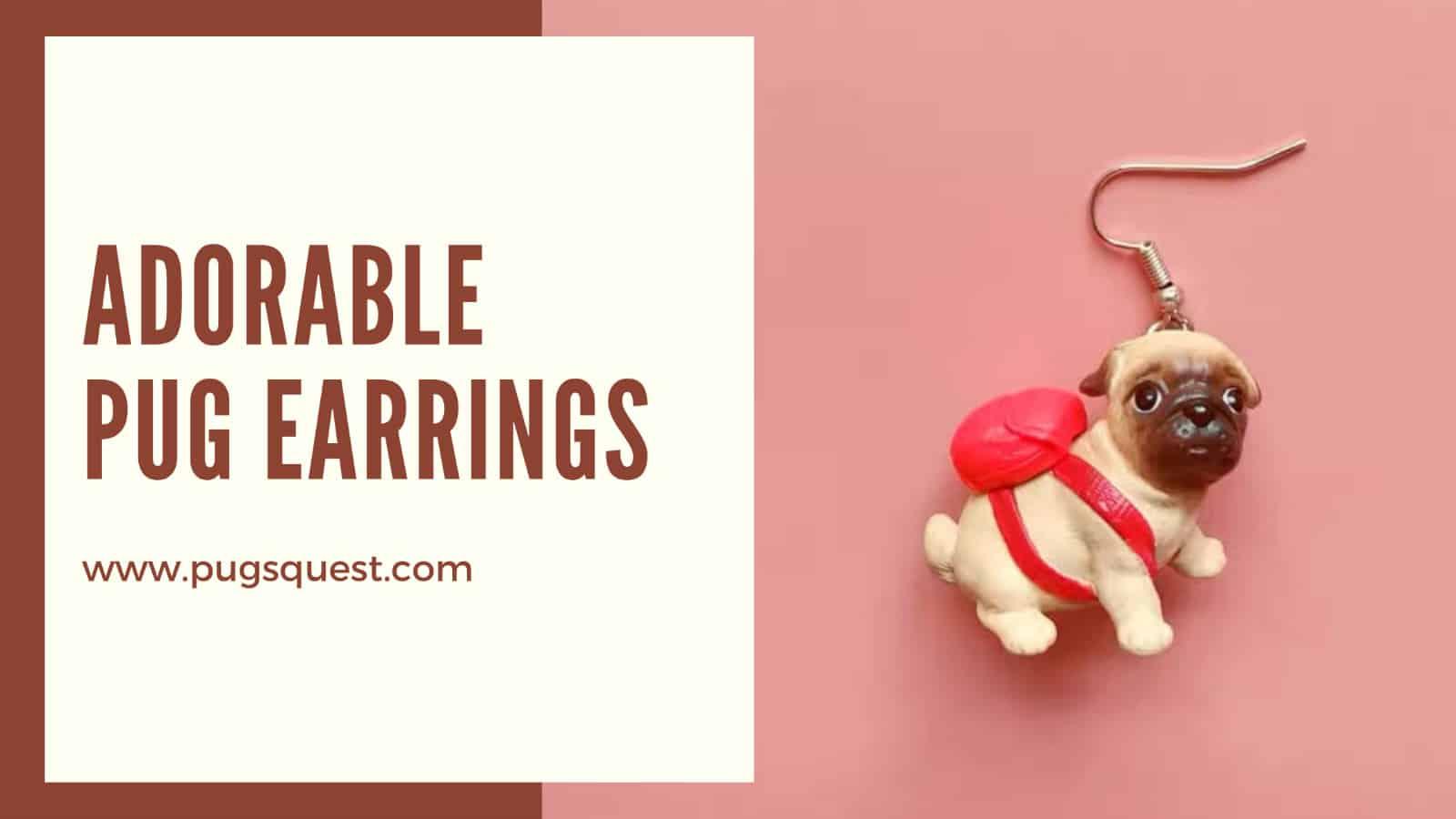 Pugs earrings